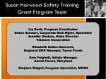 susan harwood safety training grant program team