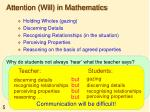attention will in mathematics