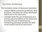 survivor testimony
