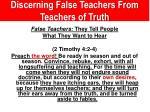 discerning false teachers from teachers of truth1