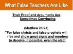 what false teachers are like9