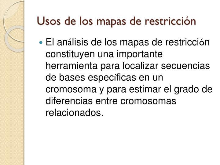 Usos de los mapas de restricción