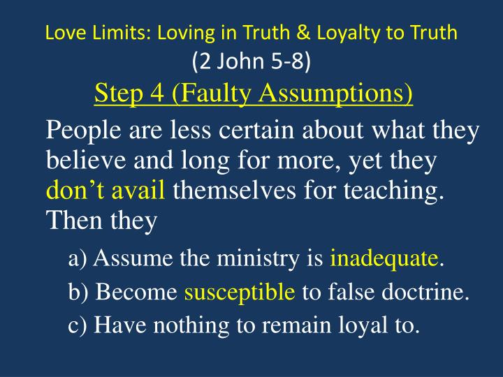Love Limits: Loving in Truth & Loyalty to Truth