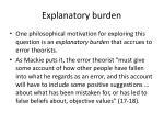 explanatory burden