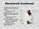 machiavelli continued1