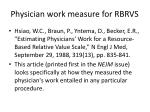 physician work measure for rbrvs