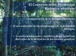 el convenio sobre diversidad biol gica objetivos
