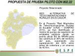 propuesta de prueba piloto con 802 222