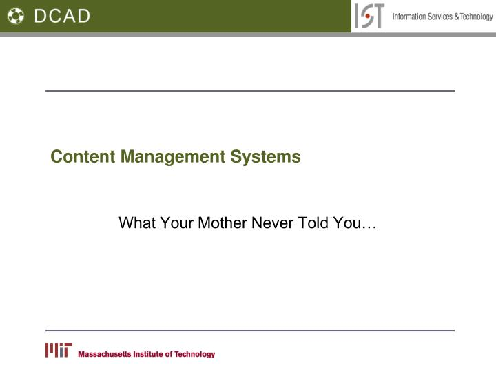 content management systems n.