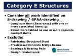 category e structures