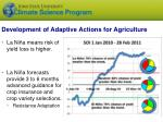 development of adaptive actions for agriculture