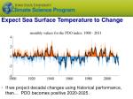 expect sea surface temperature to change1