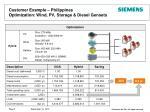 customer example philippines optimization wind pv storage diesel gensets