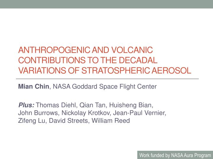 anthropogenic and volcanic contributions to the decadal variations of stratospheric aerosol n.