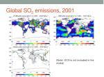 global so 2 emissions 2001