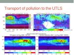 transport of pollution to the utls