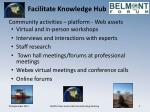 facilitate knowledge hub