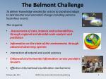the belmont challenge