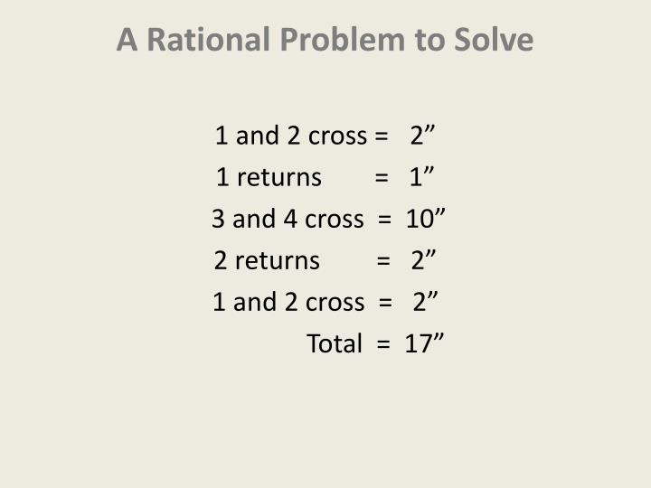 A rational problem to solve