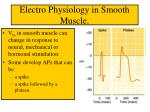 electro physiology in smooth muscle