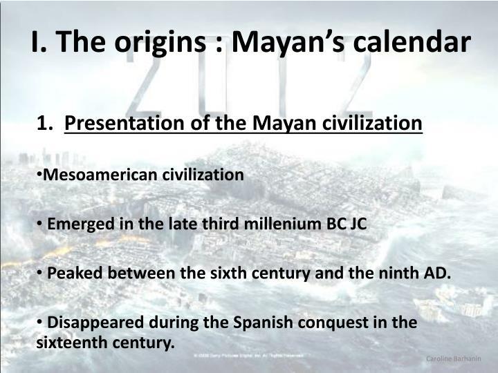I the origins mayan s calendar