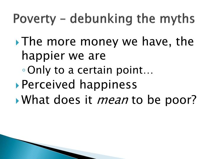 Poverty – debunking the myths