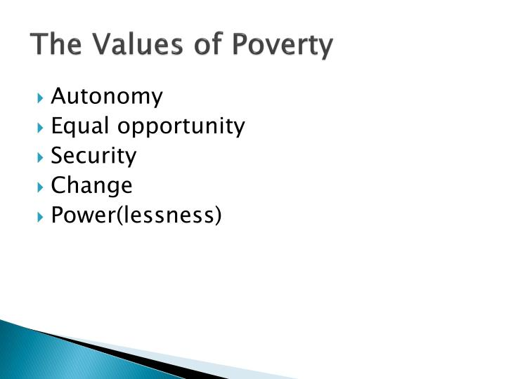 The Values of Poverty
