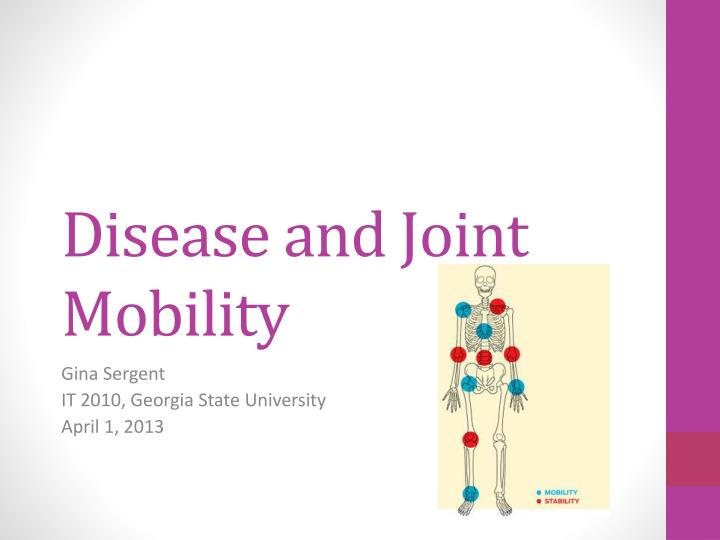 disease and joint mobility n.