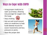 ways to cope with copd