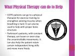 what physical therapy can do to help