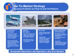 go to market strategy pursuing profitable and high growth end markets
