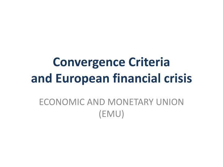 economic and monetary union emu The economic and monetary union (emu) is an umbrella term for the group of policies aimed at converging the economies of member states of the european union at three stages  the policies cover the 19 eurozone states, as well as non-euro european union stat.