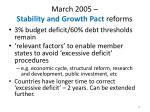 march 2005 stability and growth pact reforms