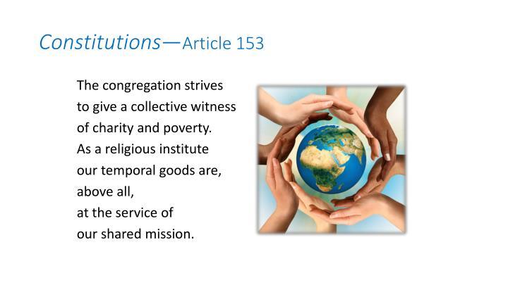 Constitutions article 153