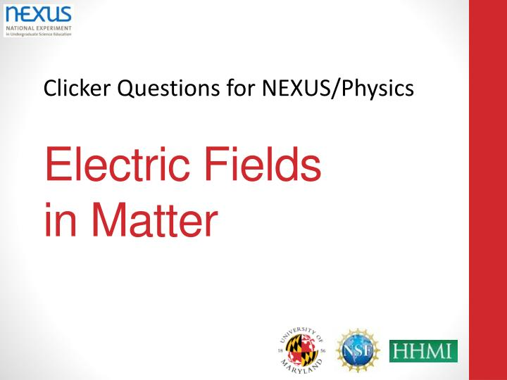 electric fields in matter n.
