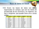 base de datos en excel1