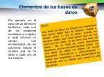 elementos de las bases de datos1