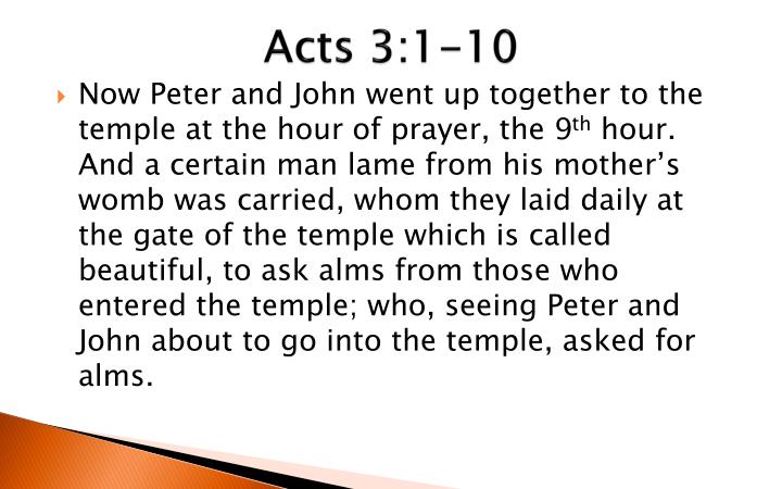 acts 3 1 10 n.