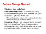 culture change needed
