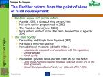 the fischler reform from the point of view of rural development