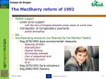 the macsharry reform of 1992