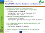 the old cap between guidance and guarantee