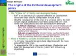 the origins of the eu rural development policy