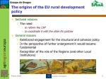 the origins of the eu rural development policy1