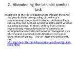 2 abandoning the leninist combat task