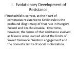 ii evolutionary development of resistance