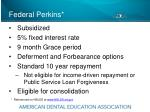 federal perkins