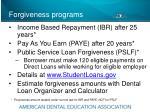 forgiveness programs