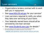 loan servicers