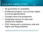 long term viability of pslf